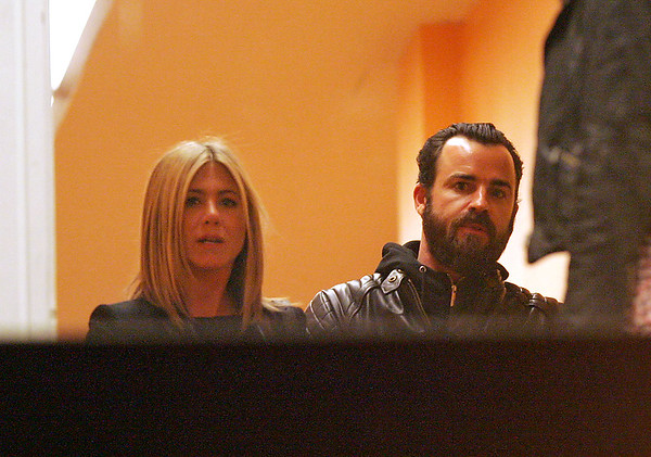 NON-EXCLUSIVE<br /> 2011 June 23 -Jennifer Aniston and Justin Theroux at 'Inside The Actor's Studio' at Pace University in NYC. Photo Credit Jackson Lee
