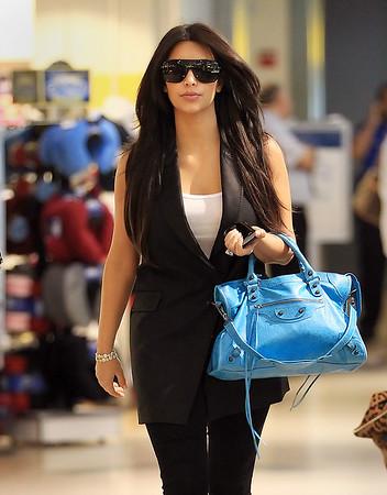 EXCLUSIVE<br /> 2011 June 23 - Kim Kardashian arrives at JFK airport, NYCPhoto Credit Jackson Lee