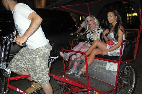 EXCLUSIVE<br /> 2011 June 23 -Kim Kardashian rides pedicab in NYC. Photo Credit Jackson Lee