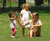 NON-EXCLUSIVE<br /> 2011 June 24 - Heidi Klum plays with a bubble wand with her kids Leni, Henry, Johan at the park in NYC. Photo Credit Jackson Lee