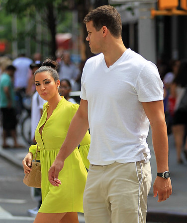 NON-EXCLUSIVE<br /> 2011 June 26 - Kim Kardashian and Kris Humphries go shopping in Soho, NYC. Photo Credit Jackson Lee
