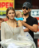 EXCLUSIVE<br /> 2011 June 26 - First shots of David Blaine and his baby girl out and about in NYC with fiance Alizee Guinochet. Photo Credit Jackson Lee