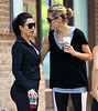 EXCLUSIVE<br /> 2011 June 26 - Kim Kardashian and Heidi Klum go jogging along the water in Battery Park City in NYC. Photo Credit Jackson Lee