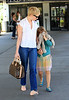 EXCLUSIVE<br /> 2011 July 1 - Michelle Williams leaves LaGuardia Airport with Matilda Ledger in hand in NYC. Photo Credit Jackson Lee