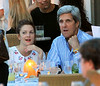 EXCLUSIVE<br /> 2011 July 2 - Drew Barrymore watches the sunset with John Kerry and boyfriend Will Kopelman at a dinner in Nantucket Island, Ma. The actress was joined by the Senator and hs wife Teresa Heinz, daughter Alexandra, step-son Christopher for a dinner at a beach resort.  She was alone at first but was joined by her boyfriend later.  Drew appeared to be jovial as she had engaging conversations with the Senator.  After watching the sun set, all had dinner for about four hours before heading home.  Photo Credit Jackson Lee