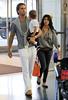 EXCLUSIVE<br /> 2011 July 11 - Kourtney Kardashian, Scott Disick, and Mason Disick depart JFK Airport in NYC. Photo Credit Jackson Lee