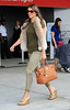 NON EXCLUSIVE<br /> 2011 July 11 - Elizabeth Liz Hurley is all smiles as she arrives to NYC in preparation to film 'Gossip Girl'.  Photo Credit Jackson Lee