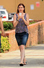 NON EXCLUSIVE<br /> 2011 July 18 - Alyson Hannigan gets her run on, at the set of 'American Reunion' in Atlanta, Ga.  Photo Credit Jackson Lee