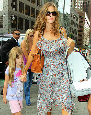Non-Exclusive <br /> 2011 July 28 - Denise Richards takes daughters Sam, Lola and baby Eloise out to lunch in NYC.  Photo Credit Jackson Lee