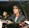 NON-EXCLUSIVE<br /> 2011 August 1 - Josh Groban signs autographs at the Regis and Kelley Show in NYC. Photo Credit Jackson Lee
