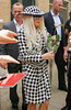 NON-EXCLUSIVE<br /> 2011 August 1 - Lady Gaga greets her fans with roses outside of 'The View' in NYC. Photo Credit Jackson Lee