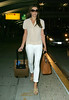 Non-Exclusive <br /> 2011 Aug 2 - Elizabeth Hurley lands in JFK Airport in NYC.  Photo Credit Jackson Lee