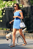 NON EXCLUSIVE<br /> 2011 August 4 - Irina Shayk struggles with her labrador dog while out and about in NYC.  Photo Credit Jackson Lee