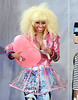 NON EXCLUSIVE<br /> 2011 August 4 - Nicki Minaj throws heart shaped balloons on 'Good Morning America' in NYC.  Photo Credit Jackson Lee