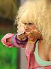 NON EXCLUSIVE<br /> 2011 August 4 - Nicki Minaj suffers a nip slip wardrobe malfunction while performing on 'Good Morning America' in NYC.  Photo Credit Jackson Lee