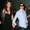 Non-Exclusive <br /> 2011 August 8 - Tom Cruise and Katie Holmes exit the Lincoln Restaurant at the Lincoln Center, NYC. Photo Credit Jackson Lee