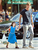 NON EXCLUSIVE<br /> 2011 August 12 - Alexander Skarsgard on the set of 'What Maisie Knew' with a young co-star in NYC. Photo Credit Jackson Lee
