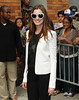 Non-Exclusive <br /> 2011 Aug 18 - Anne Hathaway arrives at Jon Stewart Show in NYC.  Photo Credit Jackson Lee