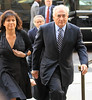 Non-Exclusive <br /> 2011 Aug 23 - Dominique Strauss-Khan and wife Anne Sinclair arrive at NY Criminal court. Photo Credit Jackson Lee