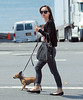NON EXCLUSIVE<br /> 2011 August 22  - Christina Ricci walks her dog Karen after going to the hair salon in NYC.  Photo Credit Jackson Lee