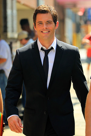 NON EXCLUSIVE<br /> 2011 Aug 26 - James Marsden on the first day of shooting of 'Bachorette' in NYC.  Photo Credit Jackson Lee