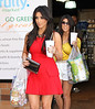 Non-Exclusive <br /> 2011 Aug 30 - Kim Kardashian and Kourtney Kardashian out and about in NYC.  Photo Credit Jackson Lee