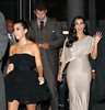 Non-Exclusive <br /> 2011 Aug 31 - Kris Humphries and Kim Kardashian heads out of their hotel with Kourtney Kardashian for a post-wedding party at Capitale in NYC.  Photo Credit Jackson Lee