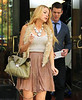 Non-Exclusive <br /> 2011 Sep 1 - Blake Lively is all smiles on the set of 'Gossip Girl' in NYC  Photo Credit Jackson Lee