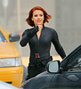 Non-Exclusive <br /> 2011 Sept 3 - Scarlett Johansson, Jeremy Renner, Chris Evans film an explosive scene at Grand Central Terminal in NYC.  Photo Credit Jackson Lee