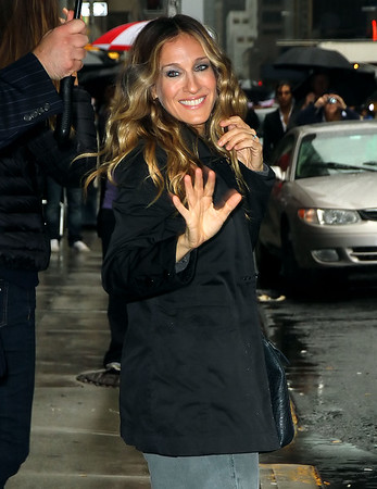Non-Exclusive <br /> 2011 Sept 7 - Sarah Jessica Parker at Davd Letterman Show in NYC.  Photo Credit Jackson Lee