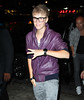 Non-Exclusive <br /> 2011 Sept 6 - Justin Bieber goes to get a slice of Ray's Pizza in NYC during Fashion's Night Out.  Photo Credit Jackson Lee
