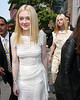 Exclusive<br /> 2011 Sept 13 - Dakota Fanning and Elle Fanning at the Rodarte show in NYC.  Photo Credit Jackson Lee