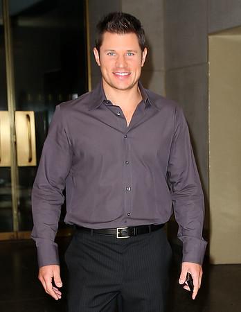 NON EXCLUSIVE<br /> 2011 Sept 19 - Nick Lachey departs the NBC Studios in NYC. Photo Credit Jackson Lee