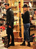 Non-Exclusive <br /> 2011 Sept 20 - Jennifer Aniston and Justin Theroux shop without sunglasses in Soho, NYC. Photo Credit Jackson Lee
