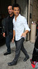 NON EXCLUSIVE<br /> 2011 Sept 22 - Taylor Lautner is all smiles at 'Regis and Kelly' show in NYC.  Photo Credit Jackson Lee