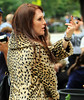 Non-Exclusive <br /> 2011 Sept 25 - Julianne Moore flips the bird on the set of 'What Maisie knew' in NY. Photo Credit Jackson Lee