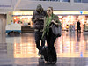 EXCLUSIVE<br /> 2011 Oct 2 - Khloe Kardashian and Lamar Odom arrive at JFK airport in NYC.  Photo Credit Jackson Lee