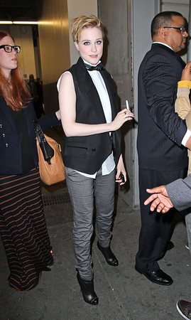 NON-EXCLUSIVE<br /> 2011 Oct 4 - Evan Rachel Wood departs a screening for his movie 'Ides of March' in NYC.  Photo Credit Jackson Lee