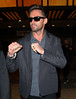 NON EXCLUSIVE<br /> 2011 Oct 4 - Hugh Jackman clenches his fists for the paps in NYC.   Photo Credit Jackson Lee