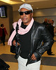 EXCLUSIVE<br /> 2011 Oct 4 - Sugar Ray Leonard arrives at JFK Airport in NYC.  Photo Credit Jackson Lee