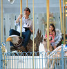 NON EXCLUSIVE<br /> 2011 Oct 8 - Tom Cruise and Suri Cruise share an intimate father/daughter moment at Schenley Plaza merry-go-round in Pittsburgh, PA.  Photo Credit Jackson Lee