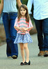 Non-Exclusive<br /> 2011 Oct 8 - Suri Cruise takes a walk in Schenley Plaza with her stuffed panda in hand in Pittsburgh, PA. Photo Credit Jackson Lee
