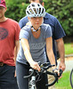 Non-Exclusive<br /> 2011 Oct 11 - Gwyneth Paltrow and Mark Ruffalo ride their bikes and jog in Central Park on the set of 'Thanks for Sharing' in NYC.  Photo Credit Jackson Lee