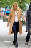Non-Exclusive<br /> 2011 Oct 12 - Gwyneth Paltrow wears a tan colored trenchcoat on the set of 'Thanks for Sharing' in NYC. Photo Credit Jackson Lee