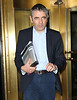 Non-Exclusive<br /> 2011 Oct 16 - Rowan Atkinson aka Mr. Bean and wife Sunestra Sustry depart their hotel in NYC. Photo Credit Jackson Lee