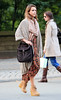 Non-Exclusive<br /> 2011 Oct 22 - Jessica Alba takes a walk in Central Park in NYC in fall foliage. Photo Credit Jackson Lee