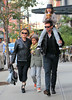 Non-Exclusive<br /> 2011 Oct 23 - Hugh Jackman and Deborra-Lee Furness take their kids Ava and Oscar to the Laughing Man shop in NYC. Photo Credit Jackson Lee