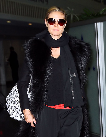 Non-Exclusive<br /> 2011 Oct 30 - Heidi Klum arrives at JFK Airport in NYC. Photo Credit Jackson Lee