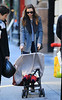 Non-Exclusive<br /> 2011 Oct 30 - Orlando Bloom and Miranda Kerr walk in streets of frigid NYC with baby Flynn in stroller. Photo Credit Jackson Lee