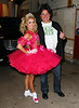 Non-Exclusive<br /> 2011 Oct 31 - Kelly Ripa and Nick Lachey dress as a girl from Toddlers & Tiaras and Charlie Sheen outside of the Regis & Kelly show in NYC. Photo Credit Jackson Lee